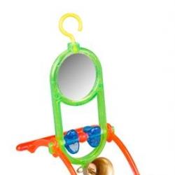 Brinquedo - Periquito Espelho + Sino C/ Poleiro