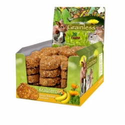 Jr Grainless Herbs Roll - Malmequer e Banana 80g