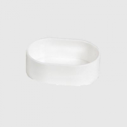 Banheira / Comedouro Oval Branco 11x8x4cm