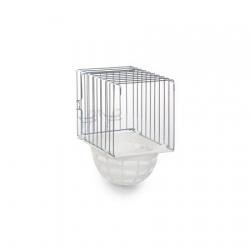 Ninho Exterior Metal / Fundo Plast. 10x11x16cm