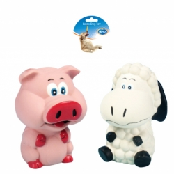 Dogtoy Latex Squawky Pig and Sheep 11.5cm