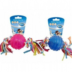 Dogtoy TPR Ball With Rope 6.3cm