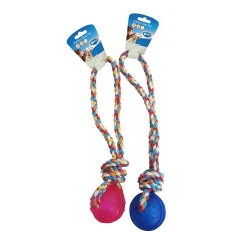 Dogtoy TPR Ball With Rope Handle 37cm