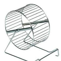Roda em Metal Cromado P/ Hamster 15cm