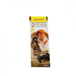 Sticks P/ Coelhos Anoes - Alfarroba 2x55g