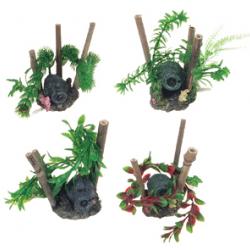 Deco. Anfora + Planta + Bambu (com Movimento)