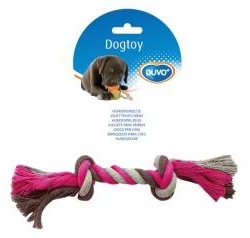 Dogtoy Tug Toy Knotted Rope  XXL 45cm Grey / Pink
