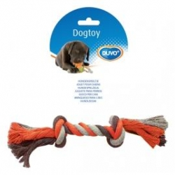 Dogtoy Tug Toy Knotted Rope L 35cm Grey / Orange