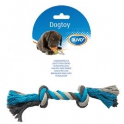 Dogtoy Tug Toy Knotted Rope M 26cm Blue / Grey