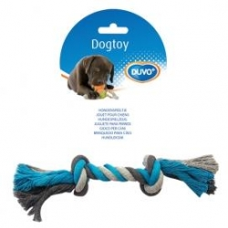 Dogtoy Tug Toy Knotted Rope XL 37cm Blue / Grey