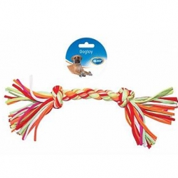 Dogtoy Tug Toy Knotted Cotton / Acryl 2 Knots 33cm
