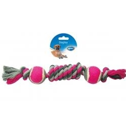 Dogtoy Tug Toy Knotted Cotton Dummy Ball 35cm
