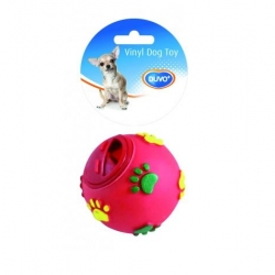 Dogtoy Vinil Treat Ball Paws o7.5cm