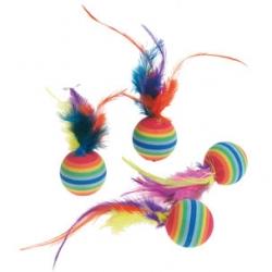 4 Bolas Arco-Iris / Plumas