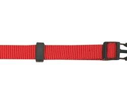 Coleira Nylon Ajust. 20mm 40/65cm Vermelho