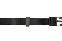 Coleira Nylon Ajust. 25mm x 55/80cm Preto
