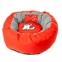 Simons Cat Bed Red 46x17cm