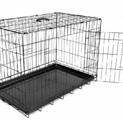 Dog Crate 2 Doors Tab. Plast. Black M 76x48x54cm