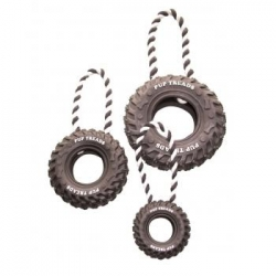 Dogtoy Rubber Toy Tire With Loop 15cm