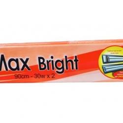 Az Max Bright Duplo 90cm 2x30w T8 Silver